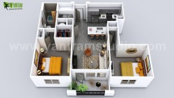 Luxuries 3D Home Floor Plan Design by Yantram Virtual Floor Plan Designer, Vegas – USA