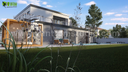 Modern 3D Exterior Villa Rendering Developed by Yantram 3D Architectural Visualisation, Bern  ...