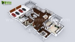 Beautiful Modern 3D Home Virtual Floor Plan Developed by Yantram 3D Home Floor Plan Design, Lond ...