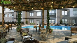 3D Exterior Rendering of Courtyard & Pool Design By Yantram Architectural Visualisation Stud ...