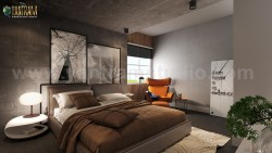Modern Master Bedroom Design Concept with 3D Interior Rendering Services by Yantram Architectura ...