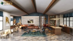 Modern Elegance Clubhouse rendering 3D Interior Designers Ideas by Yantram architectural animati ...
