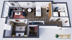 Modern Residential Floor Plan Designer Concept by Yantram Architectural Animation Services, Vanc ...