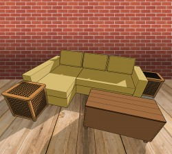 Bespoke Furniture 3D Model Sofa