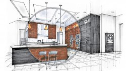 Architectural Millwork Drawing for Home Furniture Interior