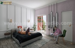 Modern Master Bedroom ideas of Interior Design Studio by Yantram Architectural Visualisation Stu ...