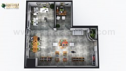 Open Concept modern Cloth showroom Floor Plan Design Companies by Architectural Animation Studio ...