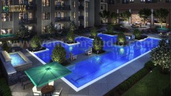 Gorgeous Courtyard Landscape Pool View Design Ideas of 3D Exterior Rendering Services by Archite ...
