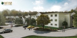 Active Adult living Residential Community of 3D Exterior Rendering Services by Architectural Ren ...