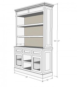 Millwork Shop Drawing of Custom Cabinet