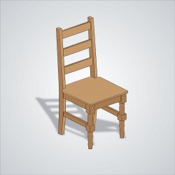 Wood Chair Drawing