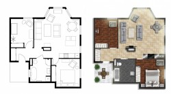 2D Home Floor Plan Design