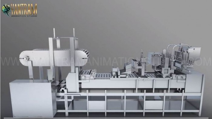 Industry Processing Vacuum FILLING Machine | 3D Product Modeling company of Multi-Container Mach ...