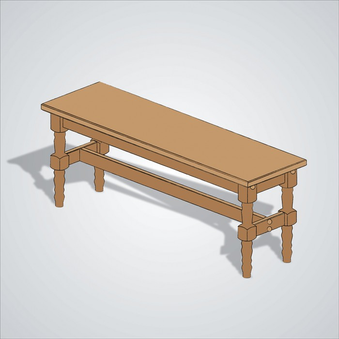 Wooden Table Drawing