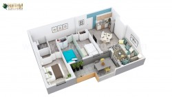 3D Home Floor Plan Design Companies of Residential Apartment Layout by Architectural Design Stud ...