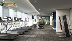 Energy Fitness Sports & Commercial Gym Training Center 3D Interior Designers by Architectura ...