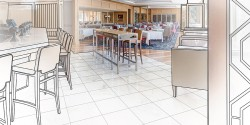 Commercial Millwork Drawings for Restaurant Furniture