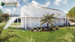Fabulous White Vacation Home 3d exterior house designs & 3d landscape concept by Architectur ...