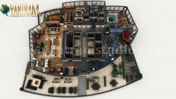Professional 3D Virtual Floor Plan of Apartment's Rooftop Design with Terrace ideas by arc ...